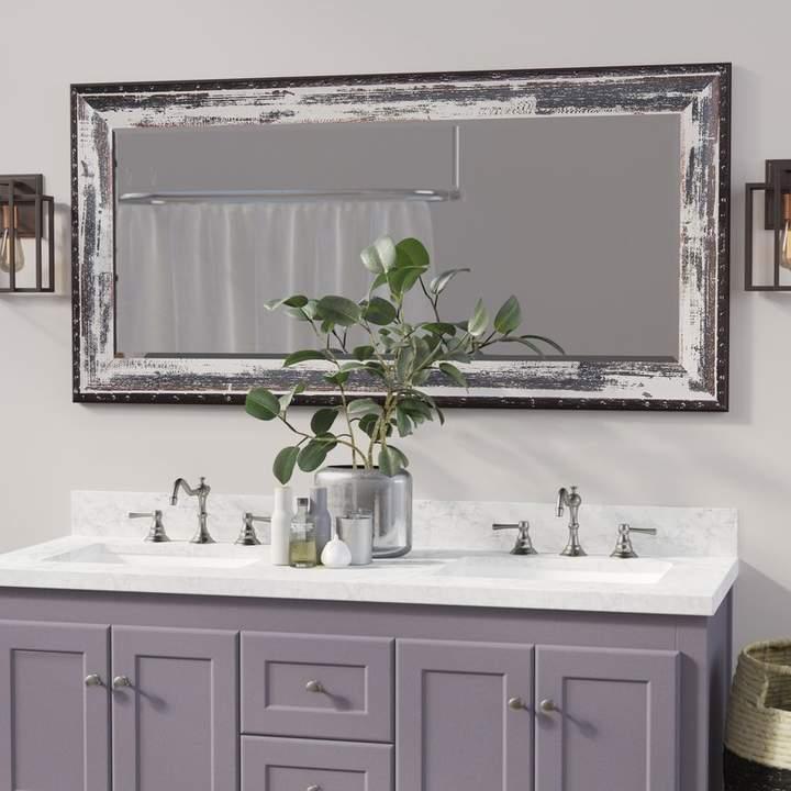 Trent Austin Design Beveled Ivory Black Wall Mirror Black Wall