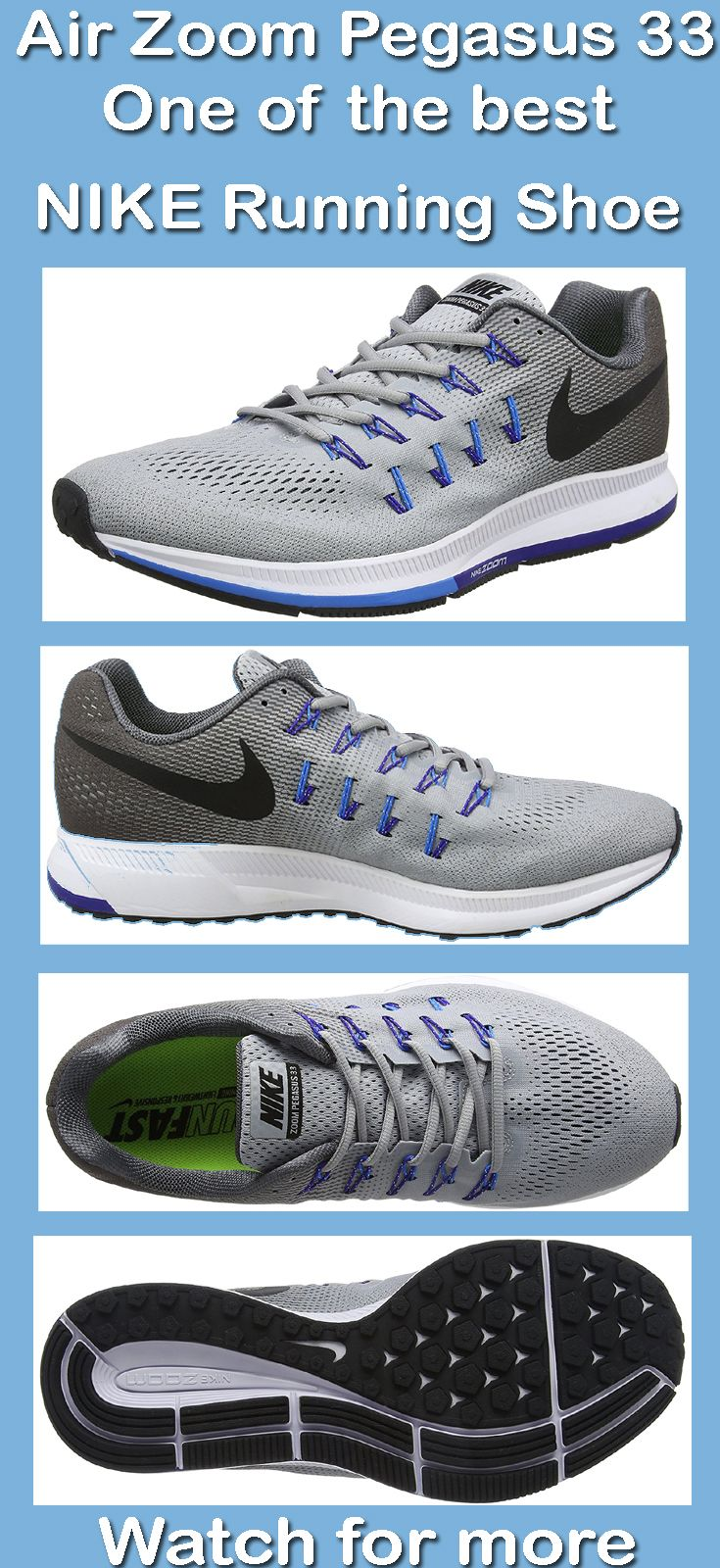 Nike Air Zoom Pegasus 33 is a versatile running shoe which ...