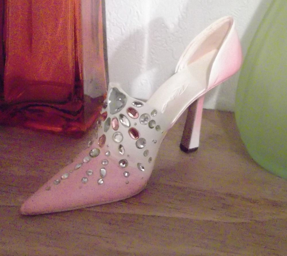 Just the right shoe collectible by raine with rhinestones