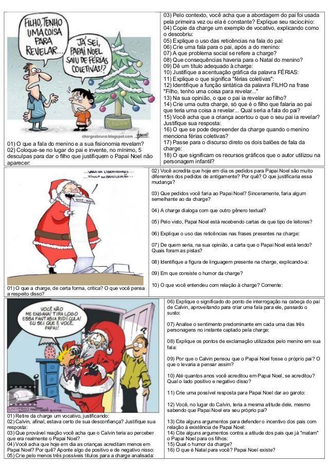 Atividades Diversas Claudia Interpretacao Charges Natal