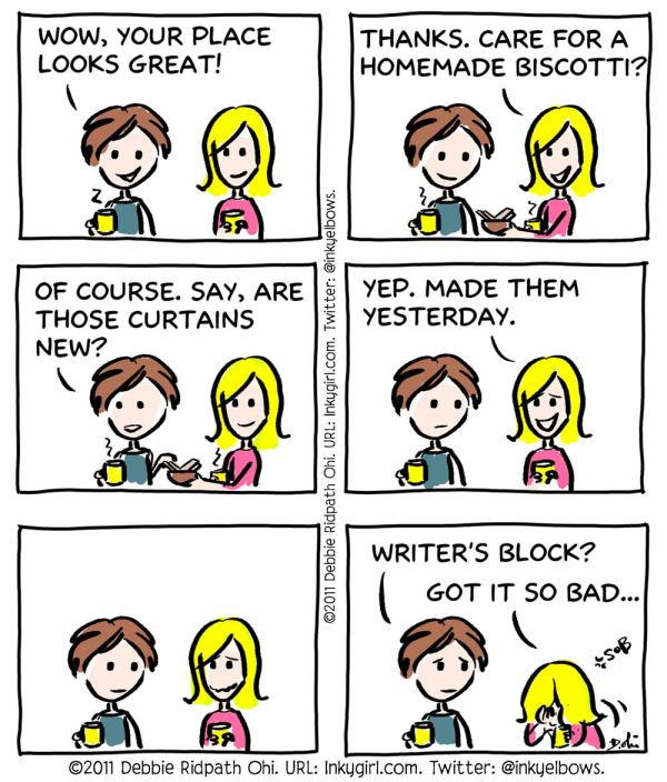 I get incredibly bad writer's block. Any methods that I haven't tried?