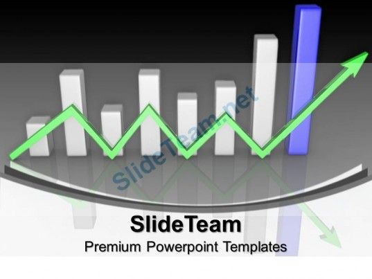 Bar Charts And Graphs Arrow Finance Powerpoint Templates Themes - graphs and charts templates