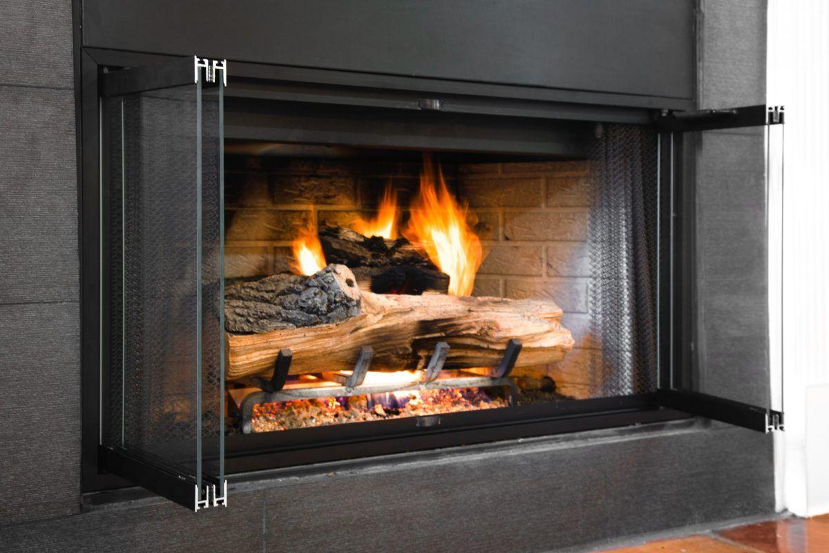 Ez Glass Door For Zero Clearance Fireplace Brick Anew In 2021 Prefab Fireplace Fireplace Glass Doors Fireplace Doors