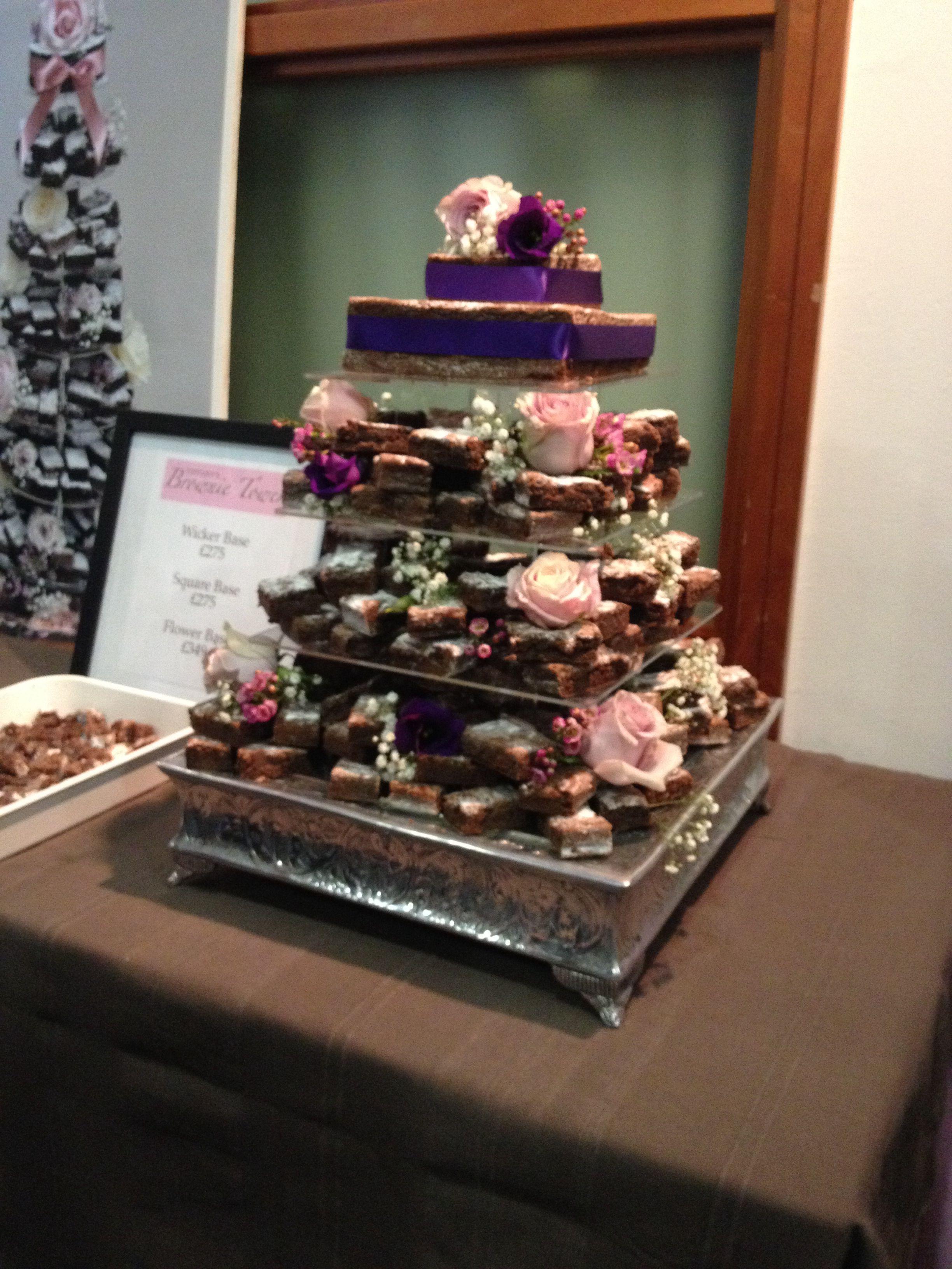 Brownie Stack Instead Of Wedding Cake