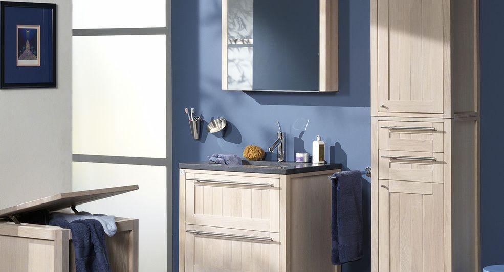 Kolomkast Badkamer Hout : Hermes klassiek en compact badkamermeubel in hout met kolomkast