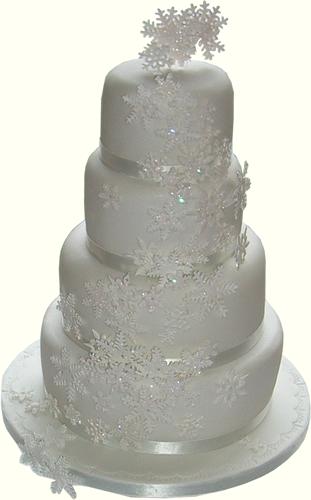 Snowflake Cake Winter Torte Cakes Christmas Wedding Beautiful