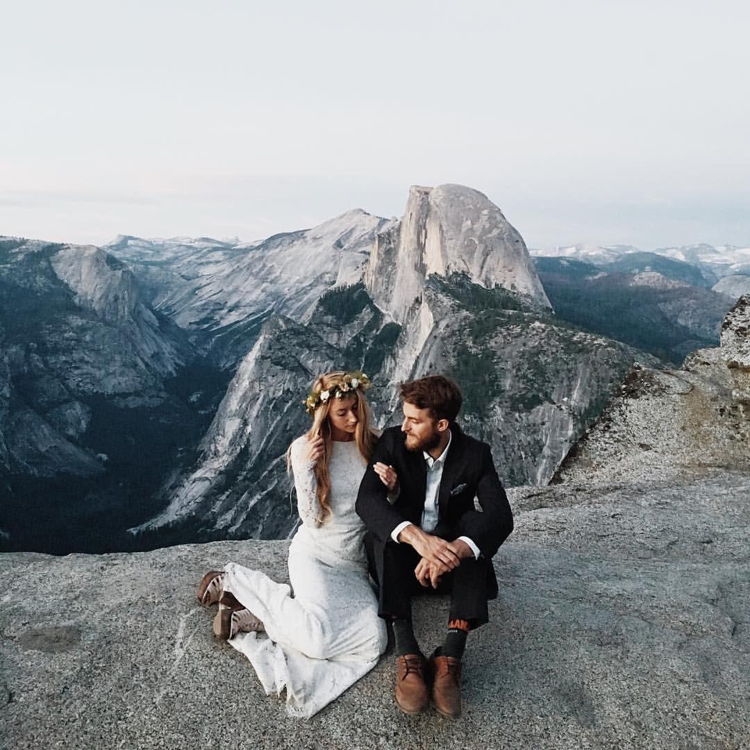 Wedding Elopement Ideas: Yosemite Elopement On Top Of A Mountain