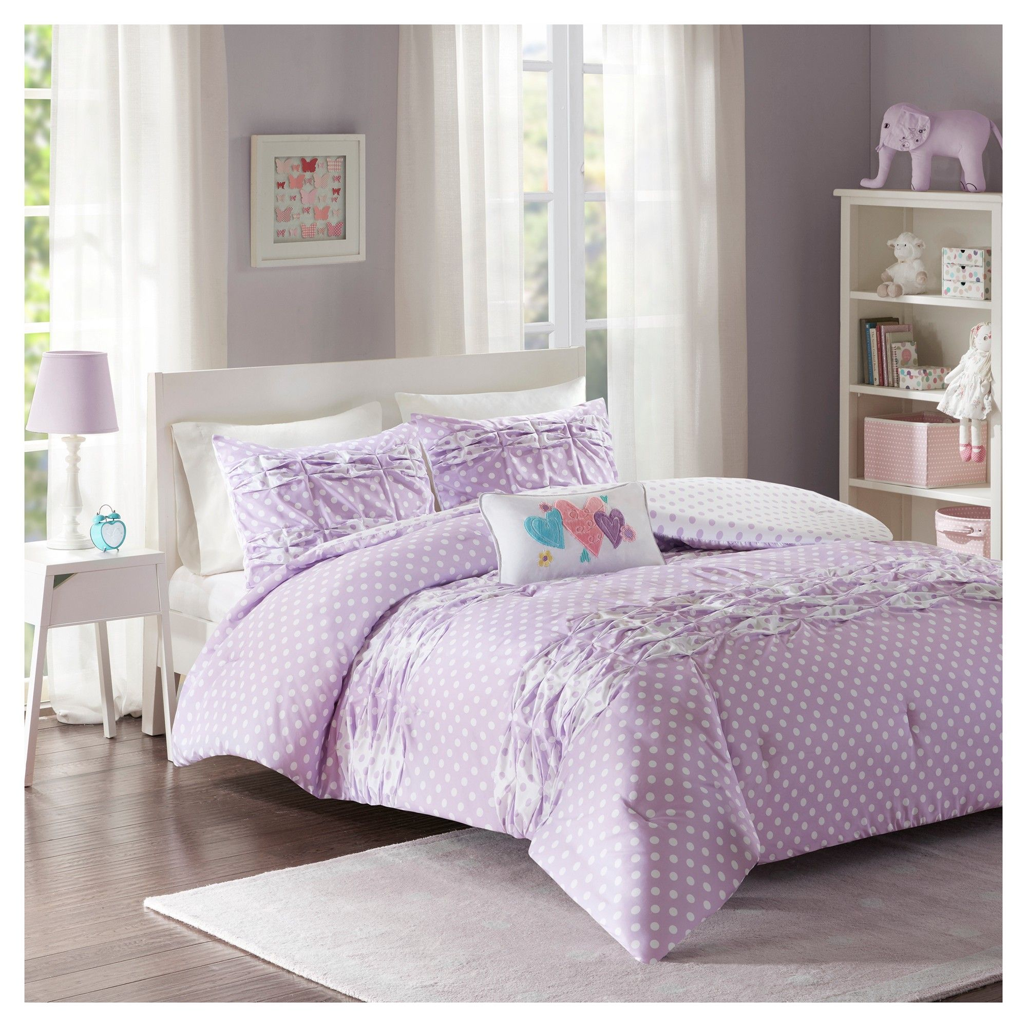 Purple Ella Comforter Set (Twintwin Xl)