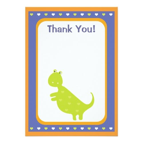 Custom Dinosaur Thank You Card