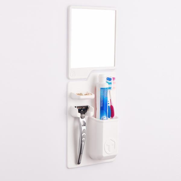 Best White Shower Mirror And Toothbrush Holder Toolitries Brushing Teeth Shower Mirror Toothbrush Holder