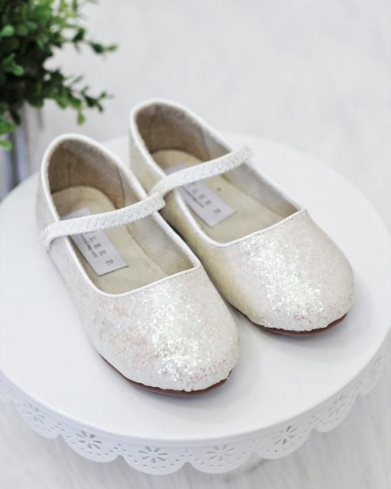 Girls shoes off white rock glitter maryjane ballet flats flower girls shoes off white rock glitter maryjane ballet flats flower girl shoes holiday shoes party shoes mightylinksfo