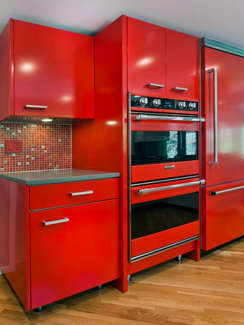 red kitchen diner design ideas renovations photos with from Red ...