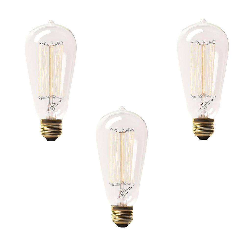 Renwil 60 Watt Incandescent S19 Light Bulb 3 Pack Light Bulb Bulb Light Bulb Bases