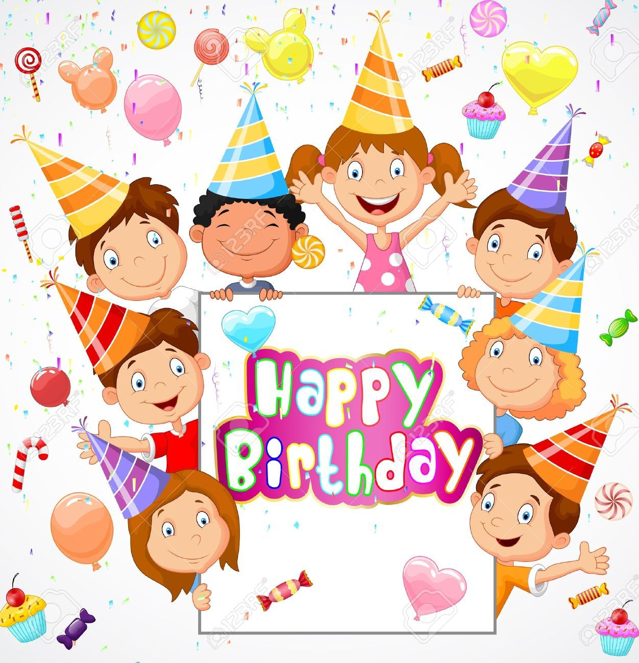Stock Vector With Images Birthday Background Kids Birthday