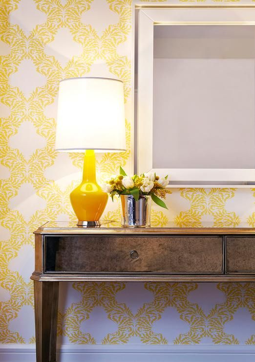 Bold yellow wallpaper