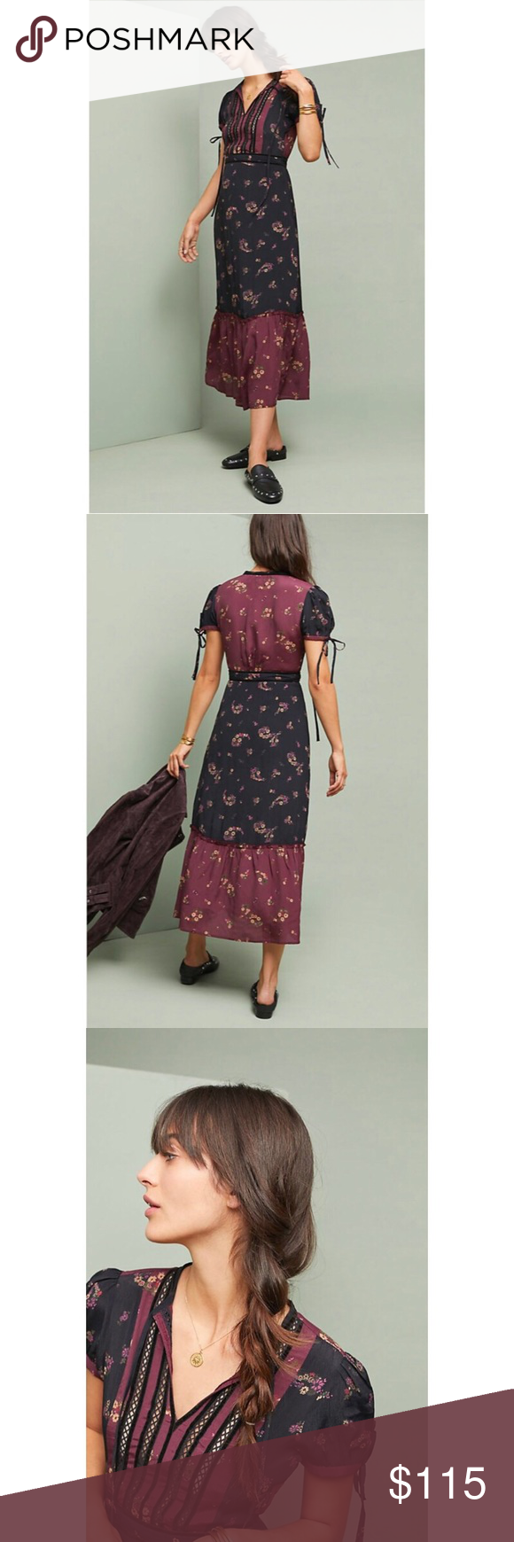 d6525ce5835a NWT Anthropologie Patchwork Dress Patricia patchwork dress. Midi Dress.  Perfectly pieced together patterns offer plenty of color for a statement  piece.