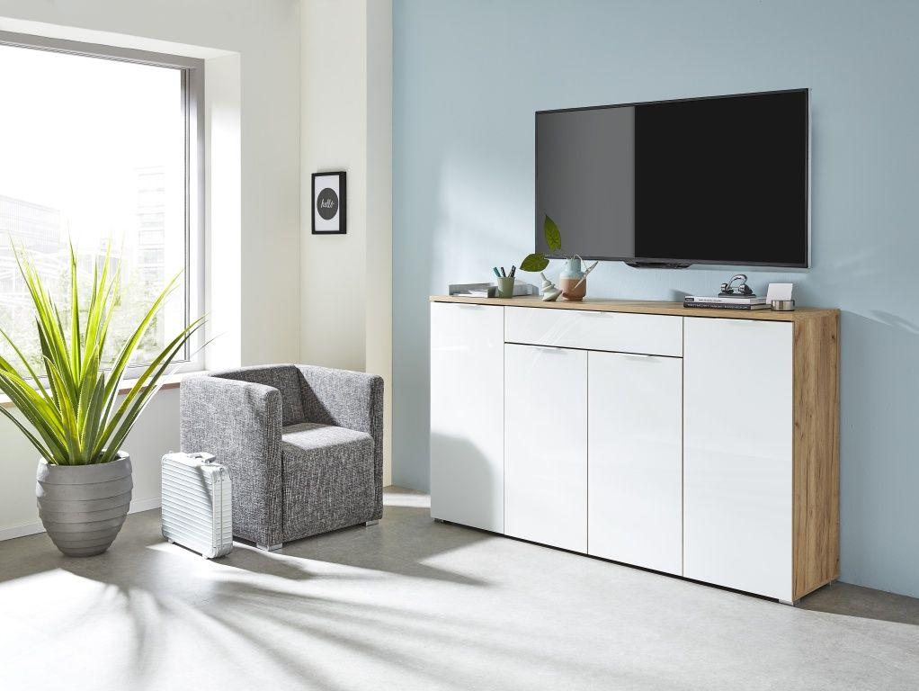 Sideboard Gw Telde Navarra Eiche Weiss Weisse Eiche Sideboard Modern Und Sidebord