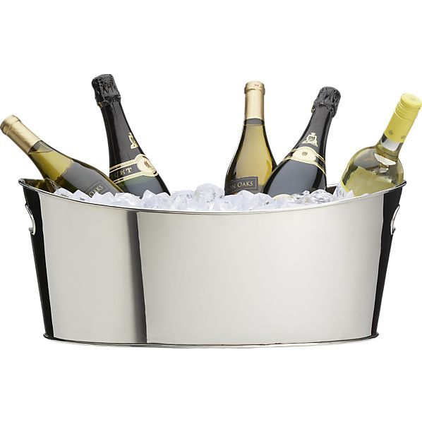 Oval Party Beverage Tub Accesorios De Bar Cubetas Y Metalarte