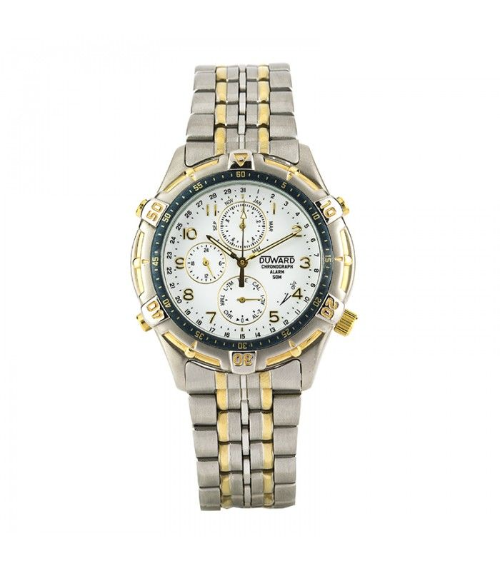 239a63e83686 Reloj cronógrafo Duward para caballero acero y chapado en.