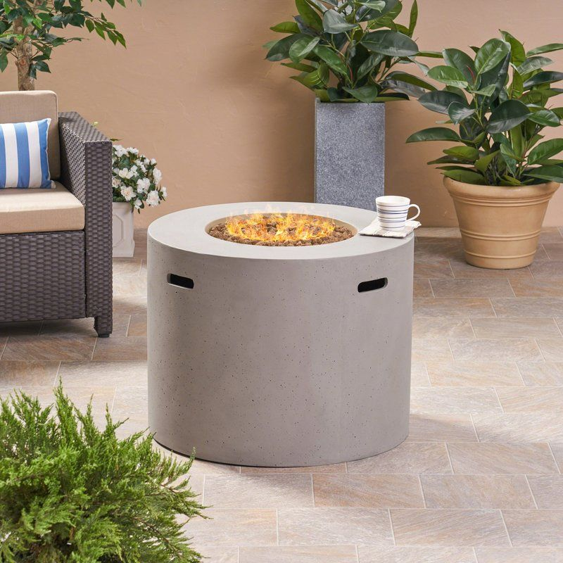 Caelan Outdoor Concrete Propane Gas Fire Pit Table Fire Pit Table Gas Firepit Gas Fire Pit Table