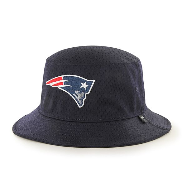 a5b31ac2fce31 New England Patriots Backboard Bucket Hat Navy 47 Brand