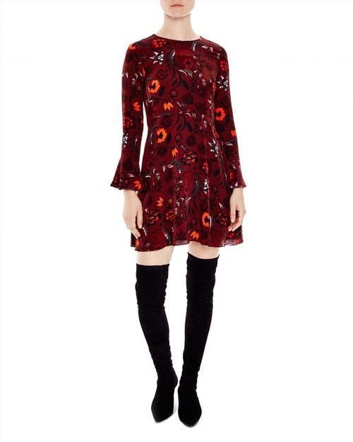 247.50$  Watch here - http://viibf.justgood.pw/vig/item.php?t=4vl9x132250 - Sandro Sofia Printed Silk Dress 247.50$