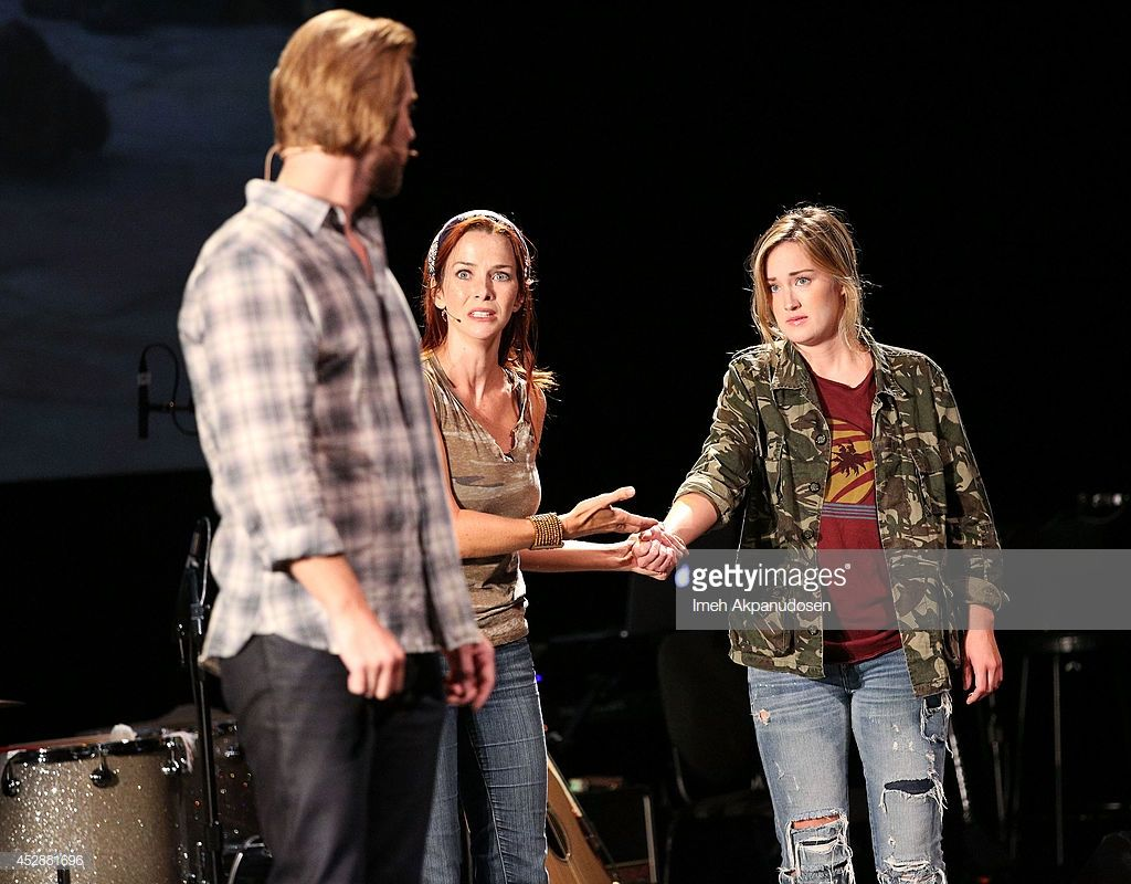 Actors Troy Baker Annie Wersching And Ashley Johnson Perform