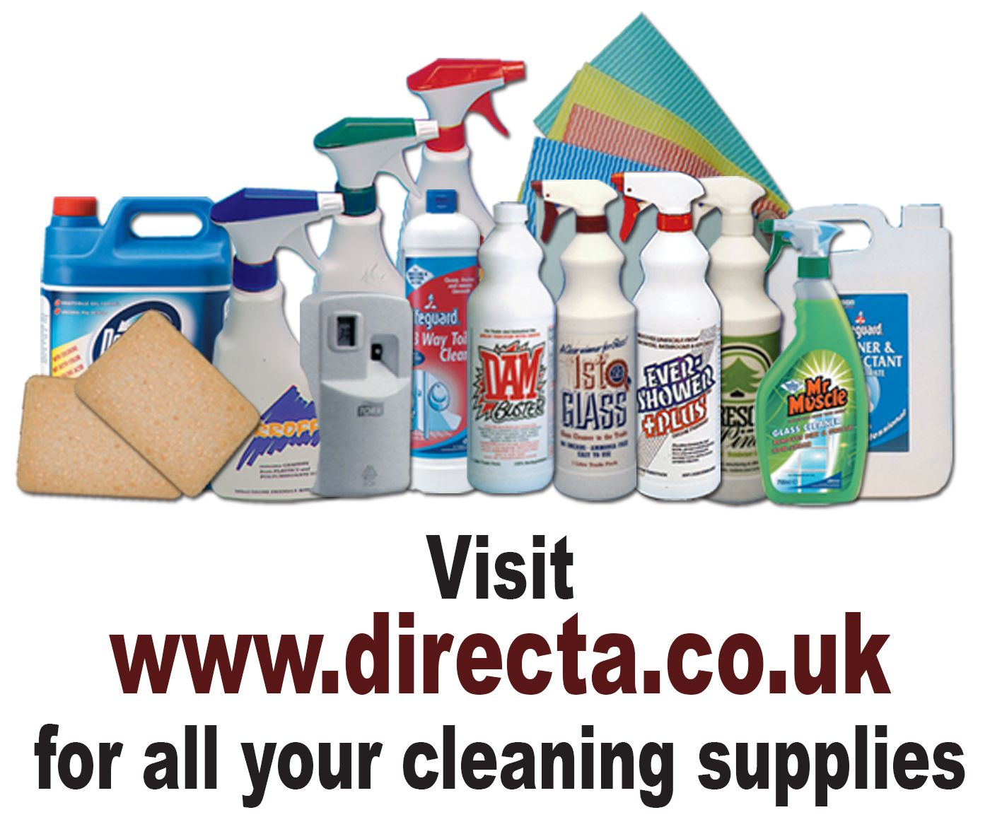 Visit www.directa.co.uk for all your cleaning supplies!