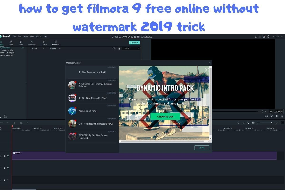 How To Get Filmora 9 Free Online Without Watermark 2019 Trick New Tricks Free Online Video Editing