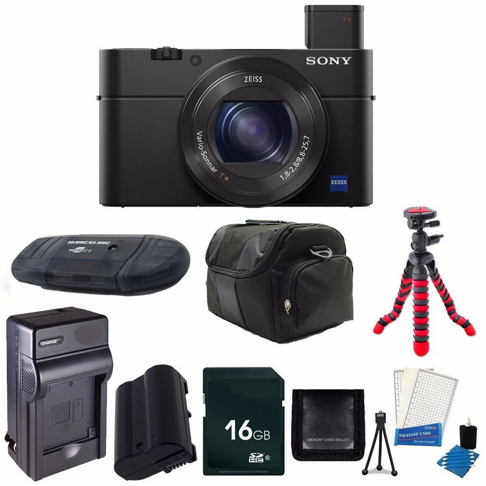 Sony Cyber Shot Dsc Rx100 Iv Digital Camera Replacement Li On Battery Rapid Travel Charger 16gb Sdhc Cl Best Digital Camera Travel Charger Digital Camera