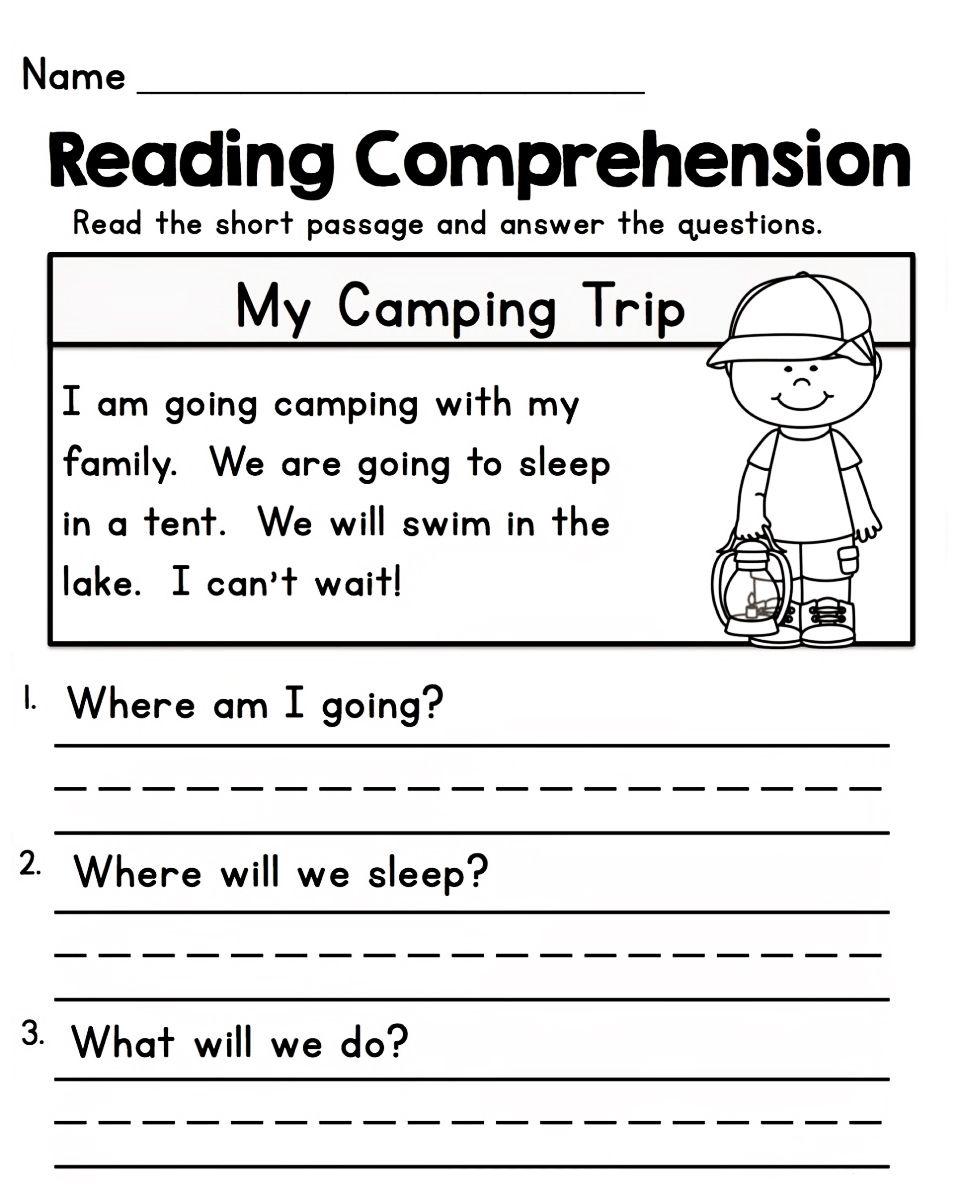 Worksheets for 1st Grade - Kids Learning Activity   Kindergarten reading  worksheets [ 1200 x 960 Pixel ]