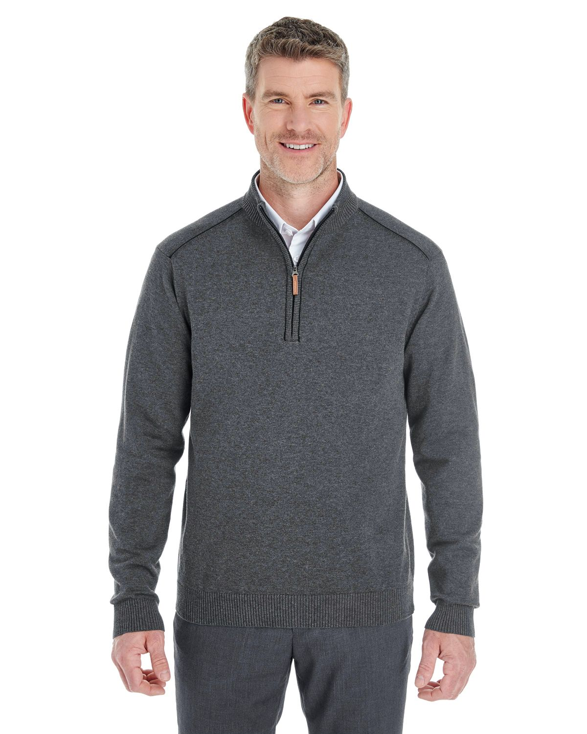 Devon & Jones DG478 - Men's Manchester Fully-Fashioned Half-Zip Sweater #dejonjones #halfzipsweater #mensfashion