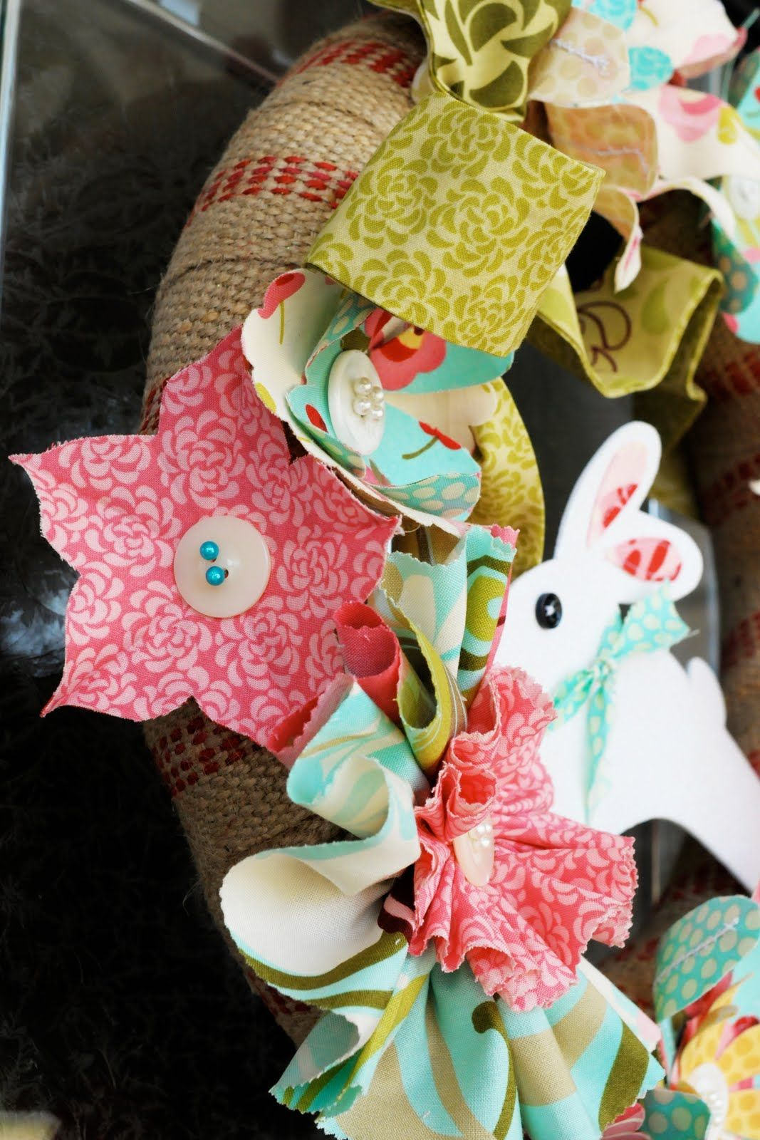 Tutorial: Spring Flowers Easter Wreath - The Polkadot ChairThe Polka Dot Chair