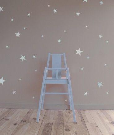 Vinilo estrellas mint aguamarina estampadas vinilos for Cuartos decorados con estrellas