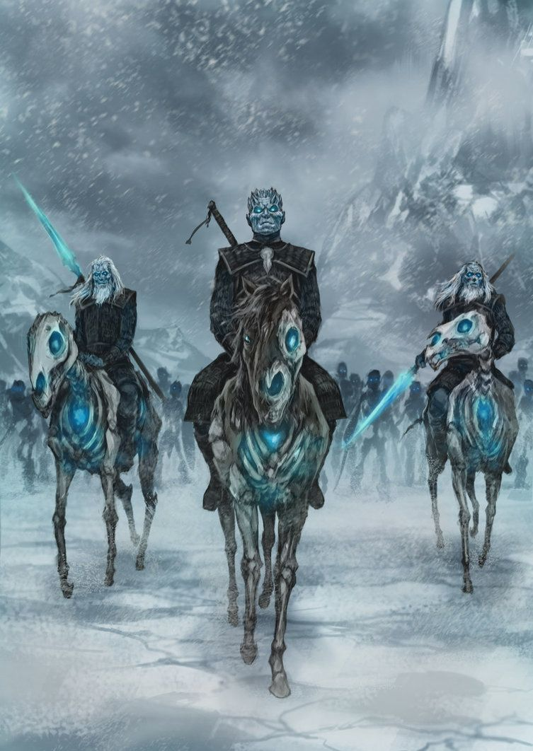 the night king and white walkers gameofthrones fantasy fiction