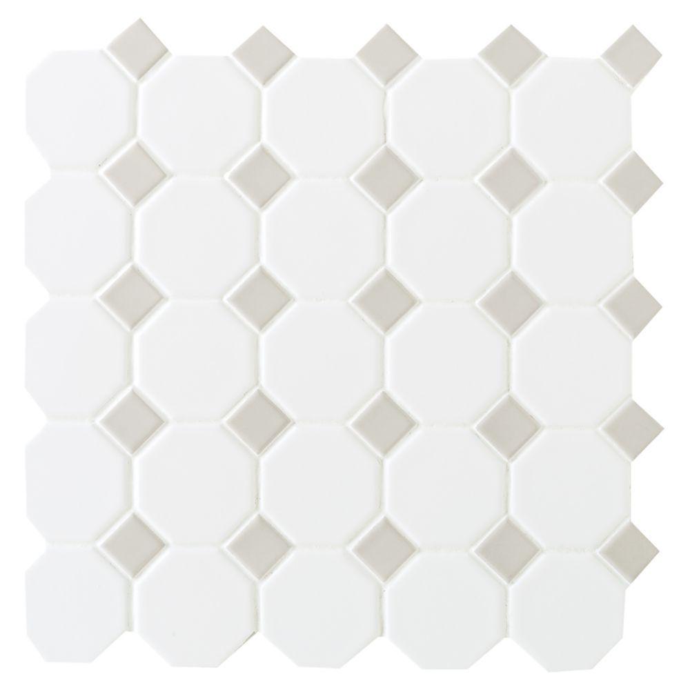 Unusual 12 X 24 Ceramic Tile Thin 12X12 Tiles For Kitchen Backsplash Clean 12X12 Tin Ceiling Tiles 12X12 Vinyl Floor Tile Youthful 12X12 Vinyl Floor Tiles Fresh12X24 Ceiling Tile Finesse Matte White With Gray Dot 12 Inch X 12 Inch X 6mm Ceramic ..