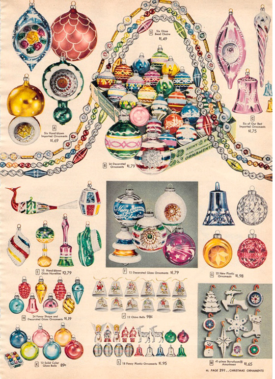 1956 sears christmas catalog penny candy christmas decorations ornaments from vintage catalogs - Sears Christmas Decorations