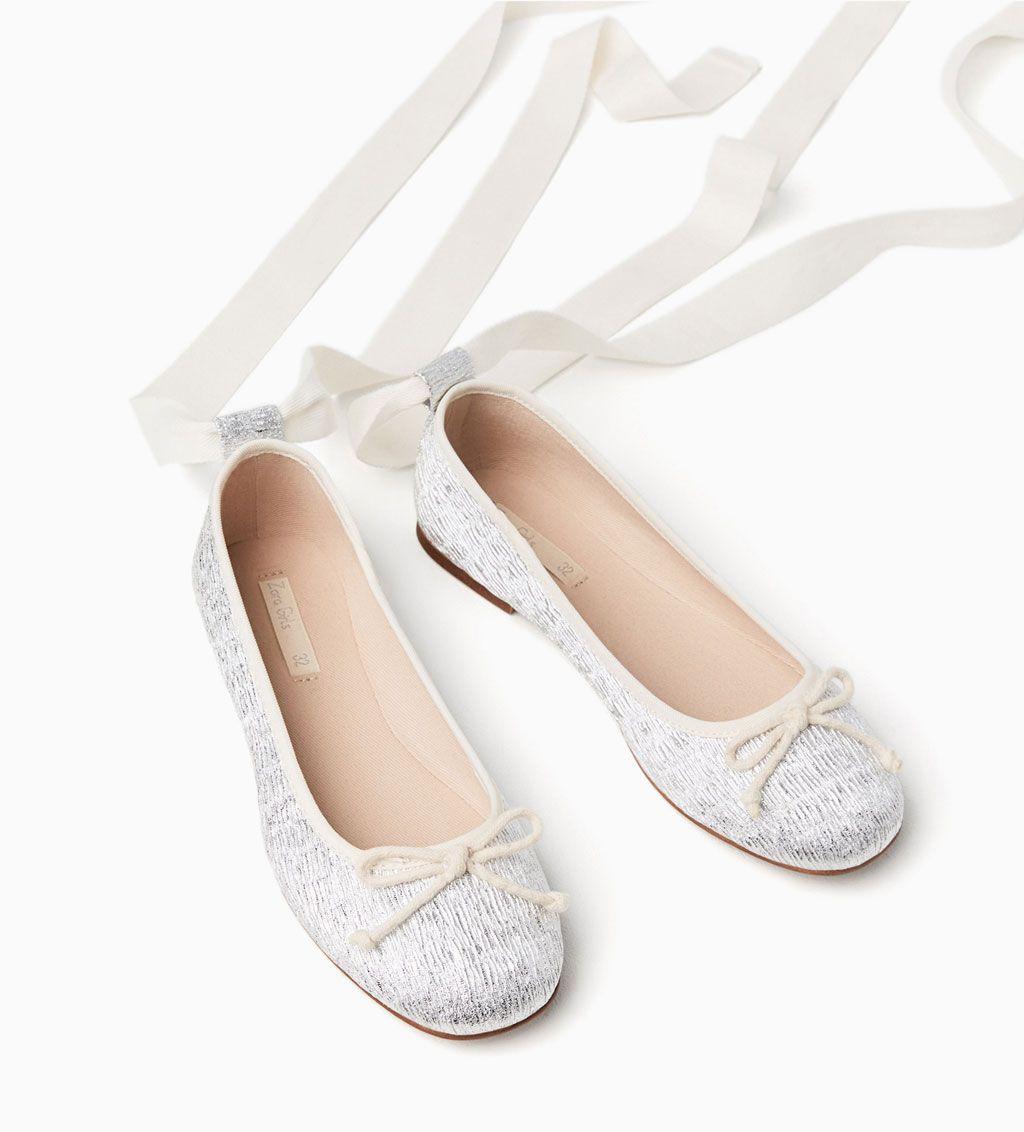 compras zapatillas de skate grandes variedades BAILARINA LACE-UP METALIZADA-ZAPATOS-NIÑA | 4-14 años-NIÑOS ...