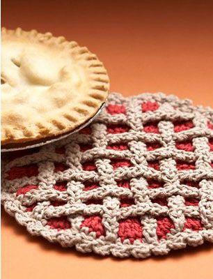 Cherry Pie Hot Pad Crochet Pattern (FREE) | Crochet | Pinterest ...