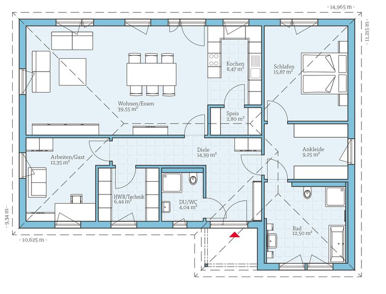 fertighaus bungalow 126 grundrisse pinterest fertighaus bungalow fertigh user und grundrisse. Black Bedroom Furniture Sets. Home Design Ideas