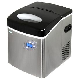 Newair 50 Lb Drop Down Portable Ice Maker Stainless Steel And
