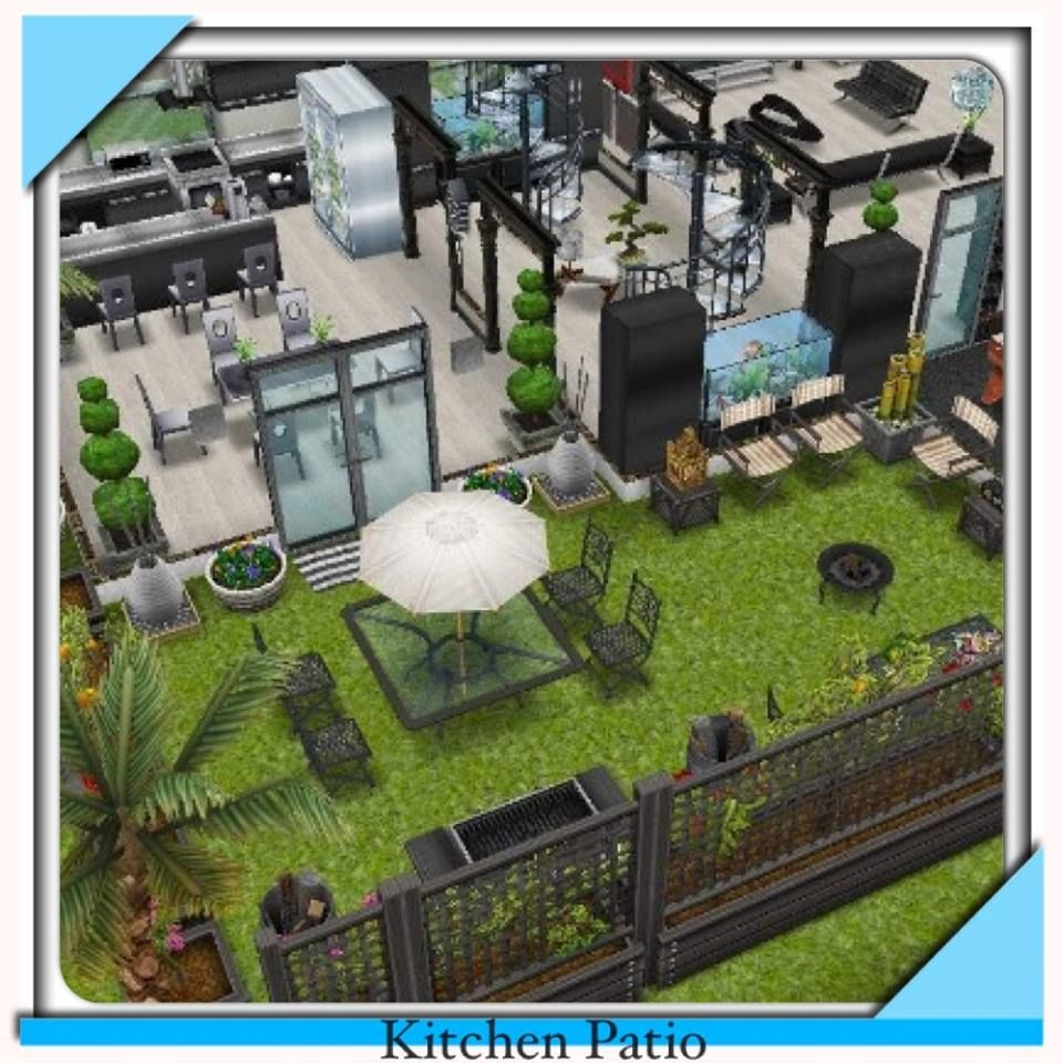 House design sims -  Sims Freeplay I Like The Walled In Garden House Layoutshouse Designsims