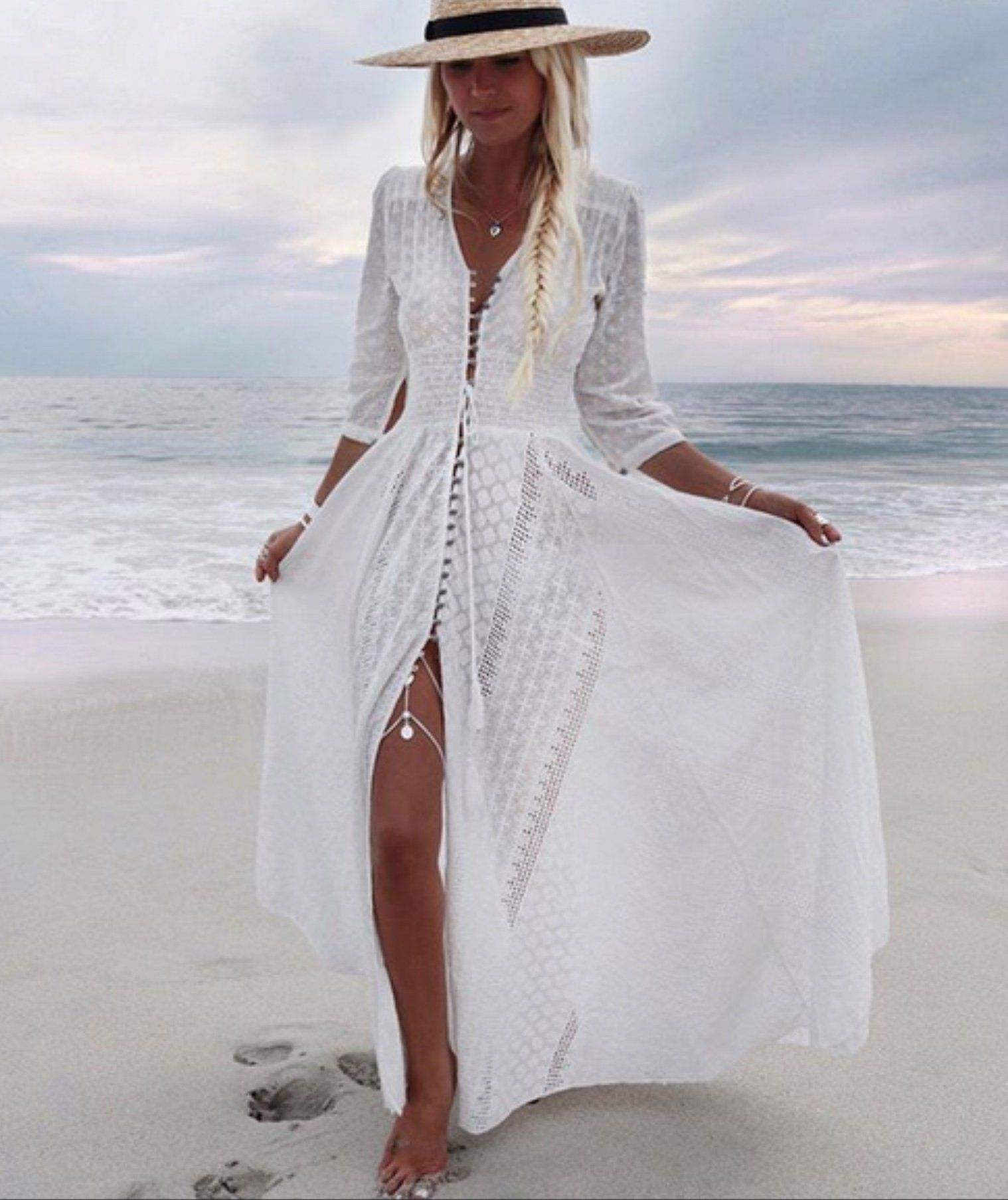 717e1cccccf The perfect white dress is the jaase Embroider anglaise Indiana maxi dress-  perfect summer Christmas dress