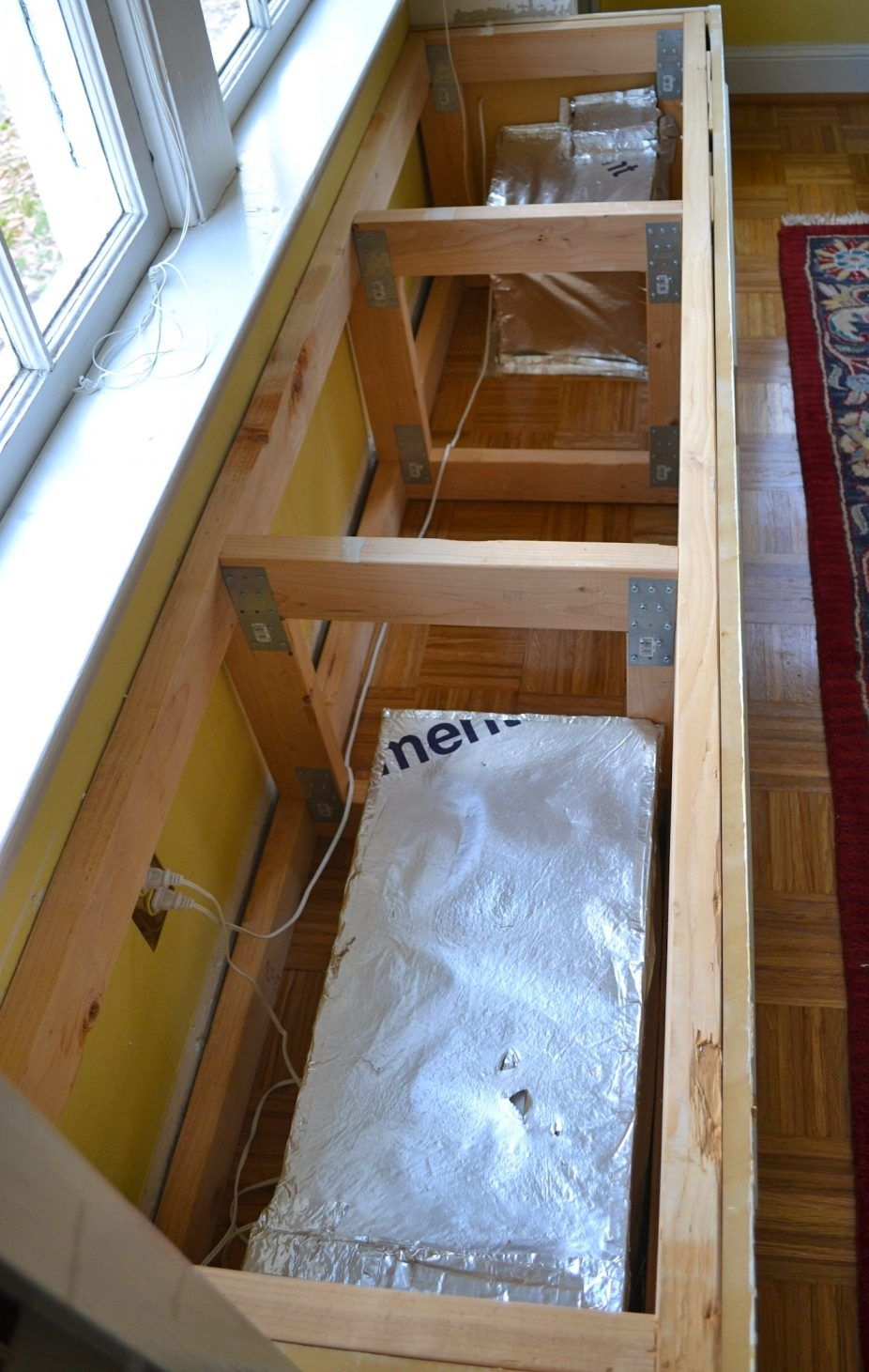 Build window seat drawers home and house photo