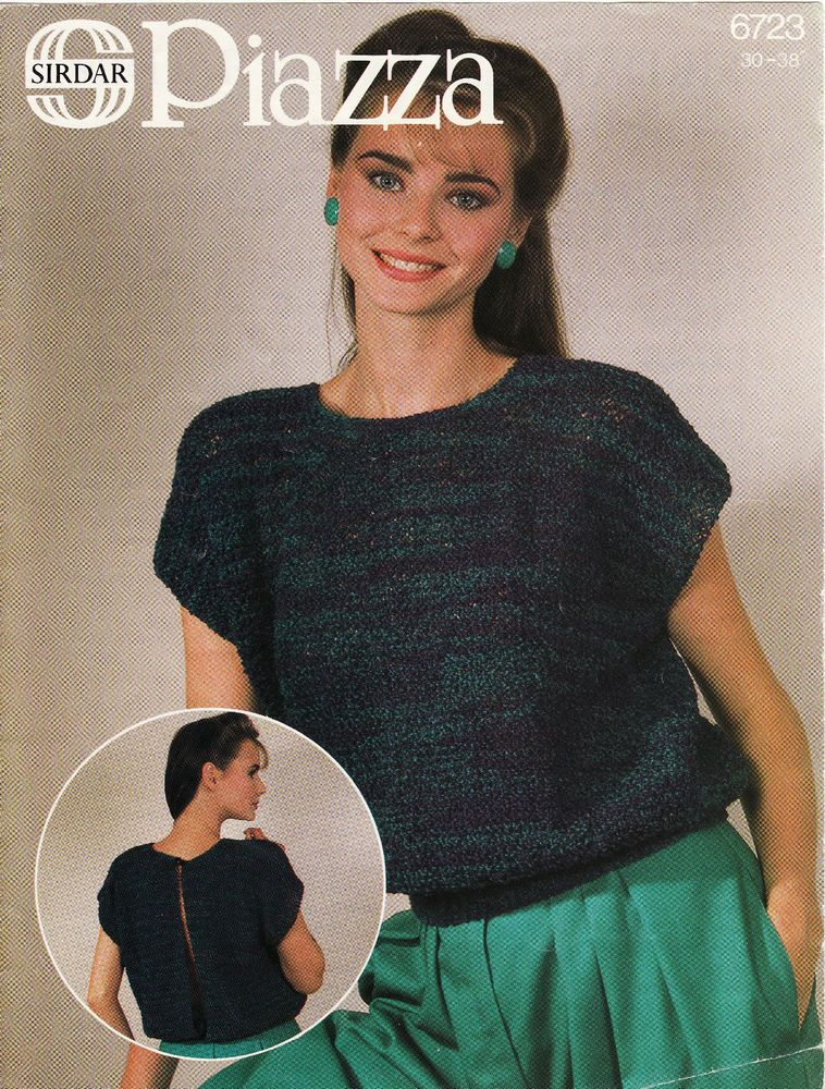 Vintage Knitting Pattern Instructions For Ladies Womens Summer