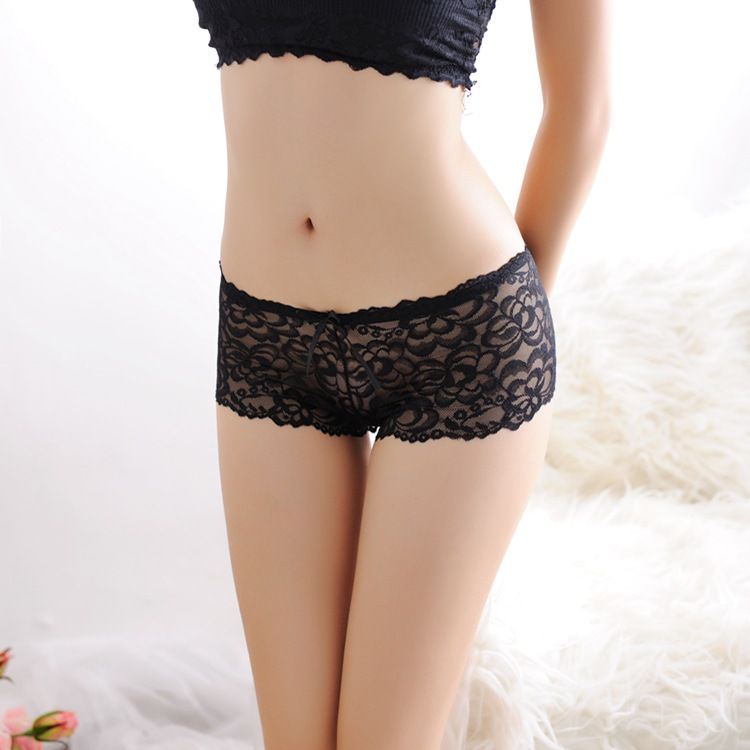 f1424b672 French UK Knickers Women Lady Girls Sexy Seamless Perspective Sheer Low  Waist Lace Hollow Out Boyshorts Briefs Panties Underwear