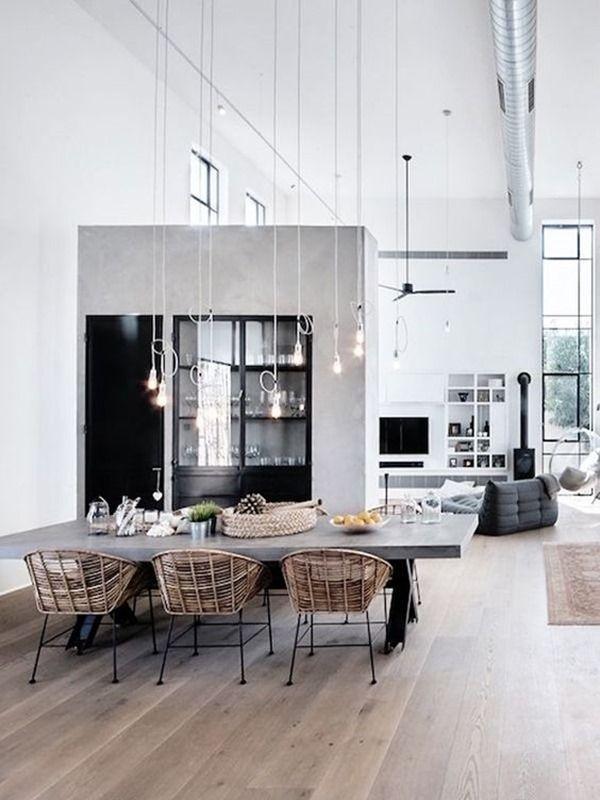 Vimini rattan fibre naturali 9 interni vintage loft pinterest home interior design house - Decorazione archi in casa ...