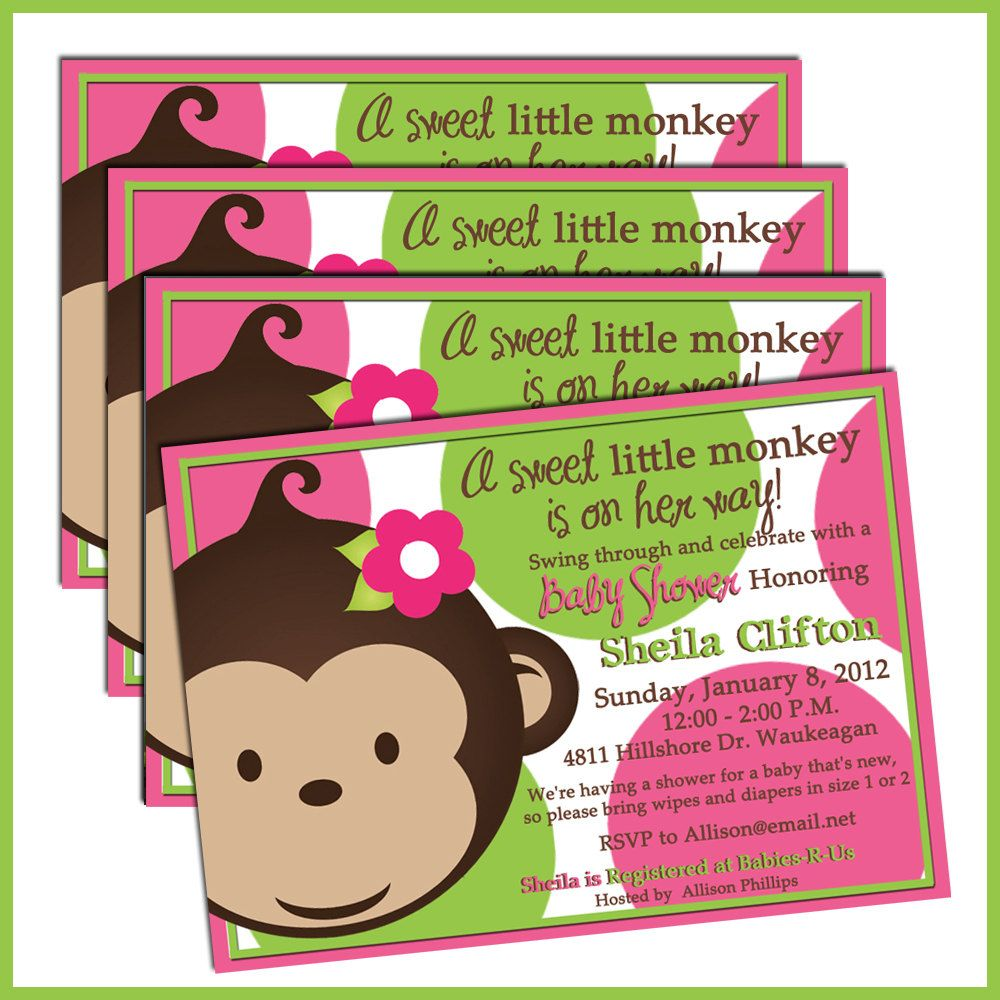 Mod monkey baby shower invitations personalized baby ideas mod monkey baby shower invitations personalized filmwisefo