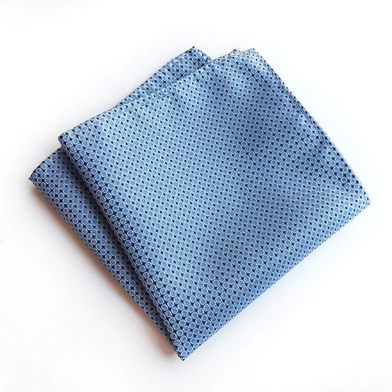 Men Fashion Solid Handkerchief Hanky Pocket Square Silk Towel Wedding Suit Party