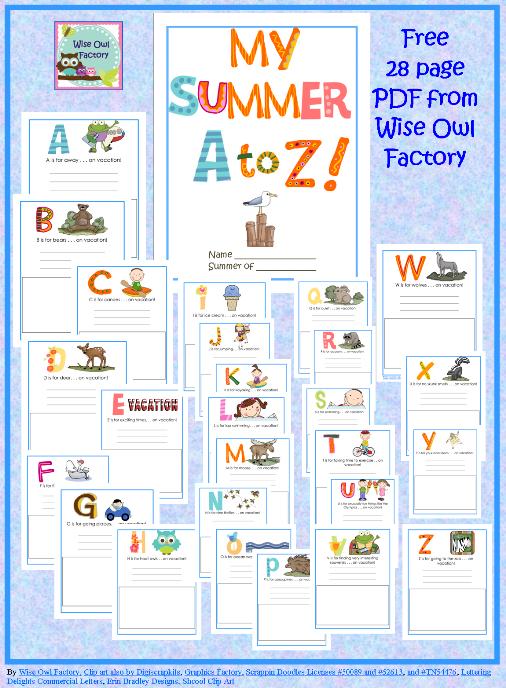 Summer Worksheets For Kindergarten Pdf